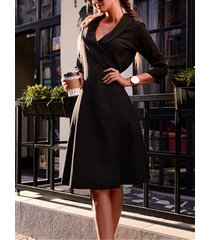 tie-up design deep v neck midi dress