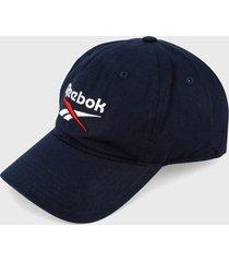 gorra azul-blanco reebok fundation badge