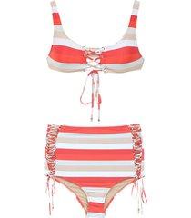 amir slama hot pant bikini - red