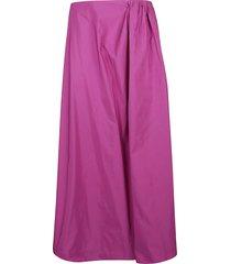 valentino flared long skirt