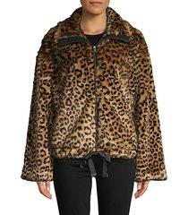 bridit leopard-print faux fur jacket