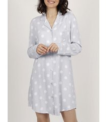 pyjama's / nachthemden admas klassieke dots nachthemd met lange mouwen