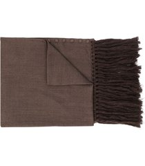 jil sander button-up winter scarf - brown