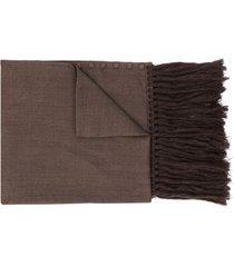 jil sander button-up winter scarf - brown