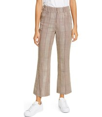 women's re/done '70s plaid crop flare trousers