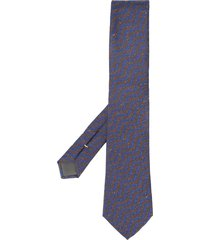 canali wavy-pattern pointed tie - blue