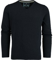 basefield pullover blauw v-hals stretch 219015014/607