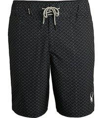 spyder men's micro geo print swim shorts - navy - size xxl