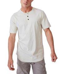 men's longline scoop henley t-shirt