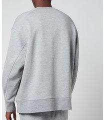 y-3 men's classic chest logo crewneck sweatshirt - medium grey heather - xxl