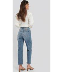calvin klein 030 high rise straight ankle jeans - blue