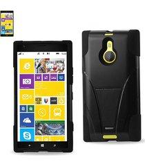 reiko nokia lumia 1520 hybrid heavy duty case with kickstand in black