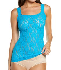 women's hanky panky signature lace camisole, size x-small - blue