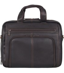 kenneth cole reaction colombian leather laptop briefcase