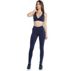 calça legging pinyx filetada azul marinho