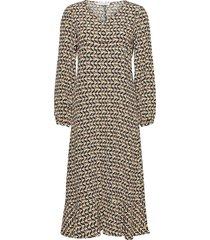 dhmaylo dress knälång klänning brun denim hunter