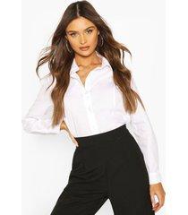 cotton mix shirt, white