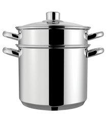 espagueteira savoy - brinox caldeirão ø20 x 17cm 5l x cozi 20 x 16,8cm 4,8l - brinox