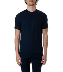 zanone blue cotton t-shirt