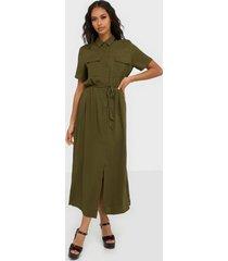 vila visuvita s/s ancle shirt dress/su loose fit dresses