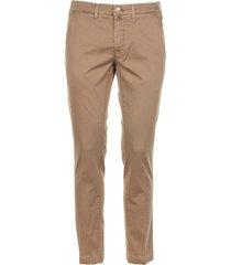 jacob cohen beige cotton trousers