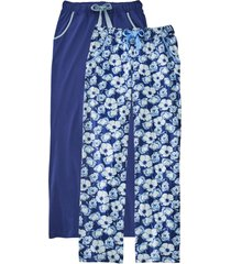 pantaloni pigiama (pacco da 2) (blu) - bpc bonprix collection