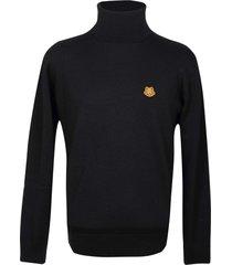 kenzo black high neck sweater