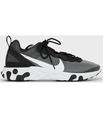 nike sportswear nike react element 55 se sneakers black/white