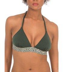 bikini selmark laberinto voorgevormd driehoekig badpak topje mare vert