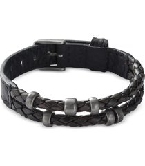 fossil designer men's bracelets, black retro pilot men's bracelet