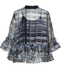 curving top blouses short-sleeved svart holzweiler