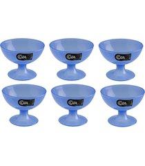 taã§a para sobremesa coza 150ml cozy - 6 unidades - azul - azul - dafiti
