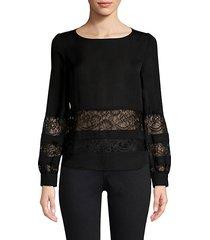 petra lace panel blouse