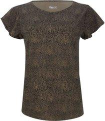 camiseta mujer animal print