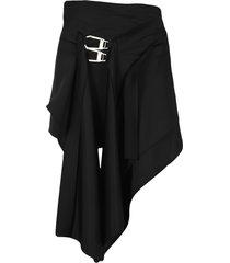 the attico attico robin black asymetrical mini skirt