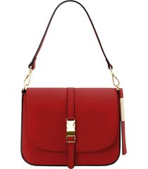 tuscany leather tl141598 nausica - borsa a tracolla in pelle rosso