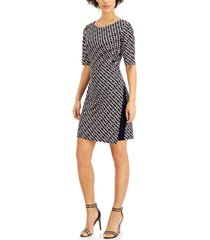 connected petite chain-print sheath dress