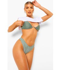 essentials bikini top met beugel en v-inkeping, salie