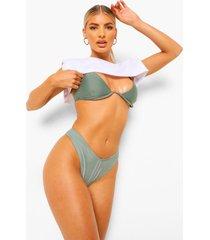 essentials bikini top met beugel en v-inkeping, salie