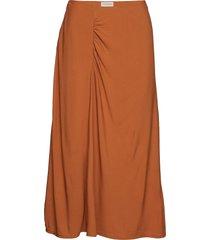 luisia knälång kjol orange by malene birger