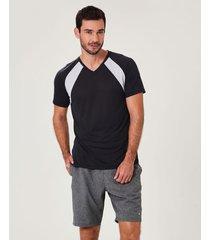 camiseta dry com recorte malwee liberta preto - p