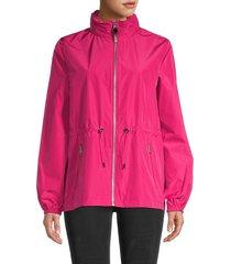 mackage women's bonnie rain shedder jacket - fuchsia - size xs