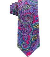tommy hilfiger men's pop paisley print silk tie