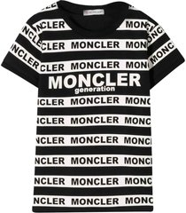 moncler black and white t-shirt with logo bands