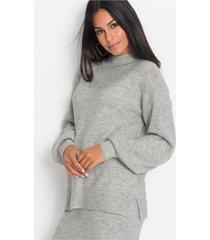 oversized trui met opstaande kraag