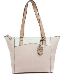 bolso rosa - blanco nine west
