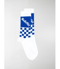 paccbet check logo knit socks