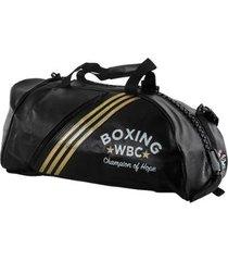 bolsa mochila adidas champion 2in1 bag boxing wbc 50l