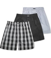 calvin klein men's cotton classics woven boxer 3-pack u1732