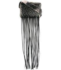 lanvin fringed toffee crossbody bag - black
